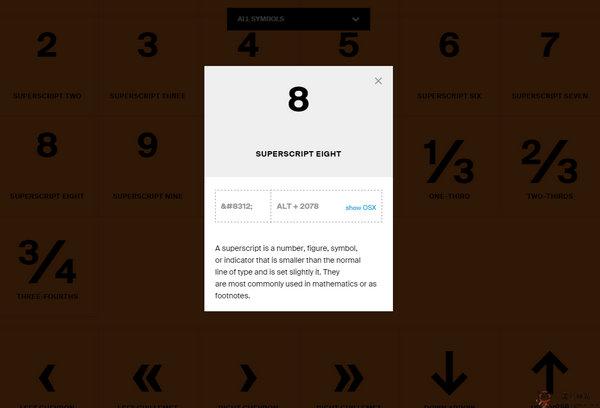 一个教你特殊符号如何输入的网站