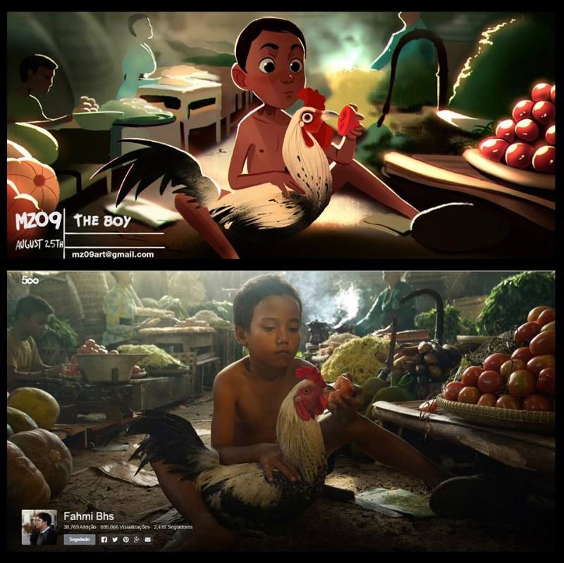 巴西艺术家把普通人变Q版卡通
