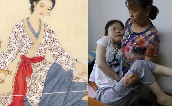 残疾少女绘画作品