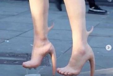 """挑战你的审美极限!""""人皮高跟鞋""""是时尚还是惊悚?"""
